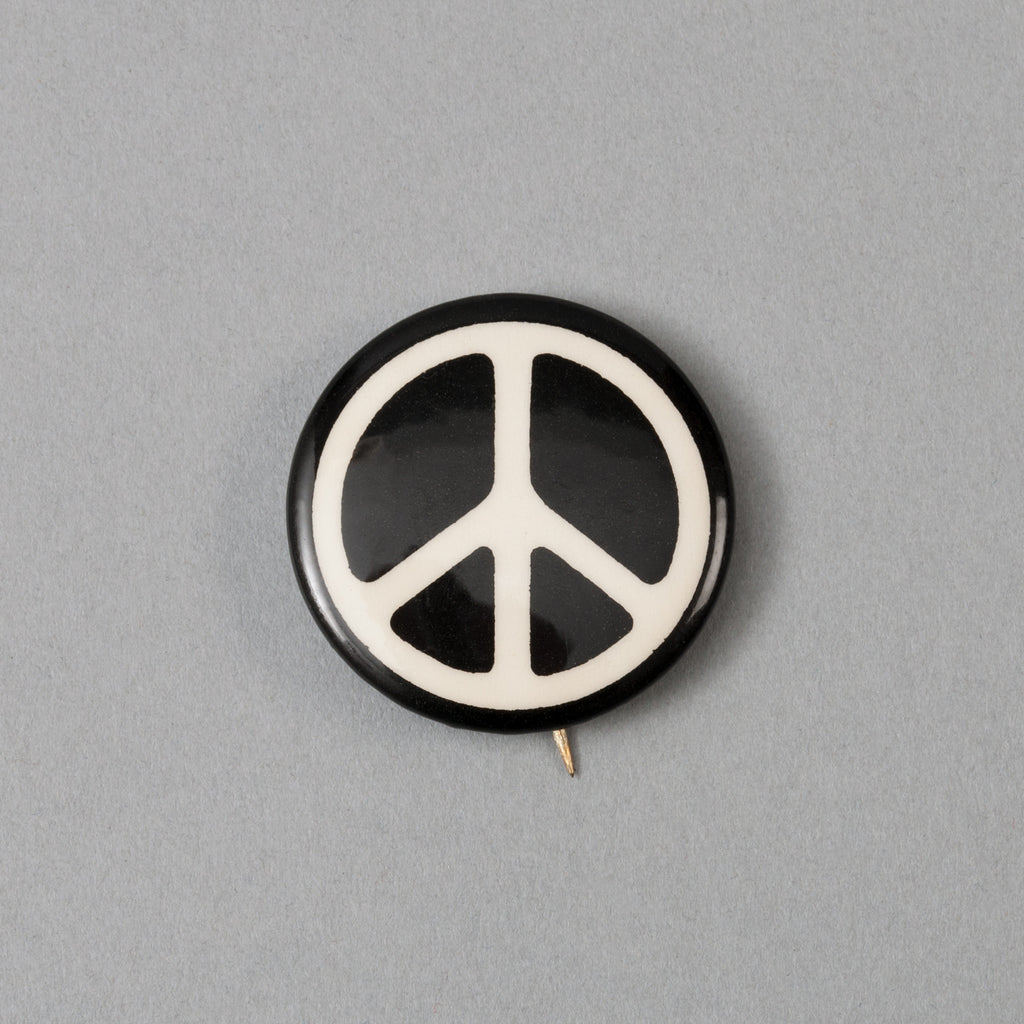 The Hill-Side - Vintage 1960's Peace Sign Pin-Back Button -