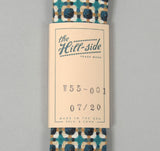The Hill-Side - W55-001 - Limited Edition Vintage Geometric Tweed Necktie, Turquoise -