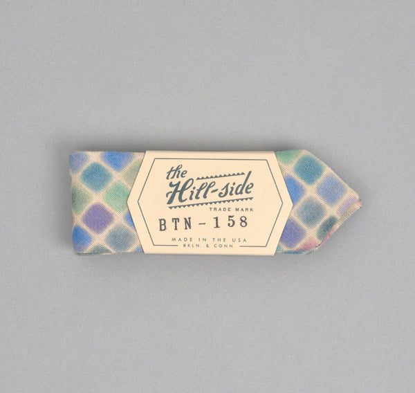 The Hill-Side - WATERCOLOR CHAMBRAY BOW TIE, NATURAL - BTN-158 - image 1