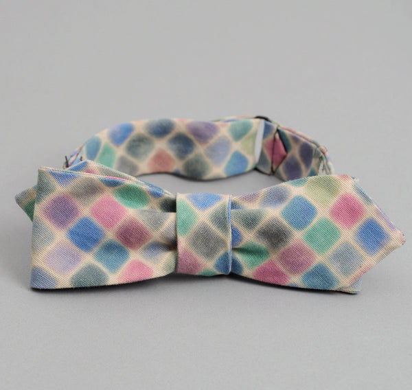 The Hill-Side - WATERCOLOR CHAMBRAY BOW TIE, NATURAL - BTN-158 - image 2