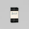 The Hill-Side - Wool Windowpane Check Pocket Square, Black & Grey - PS1-384 - image 2