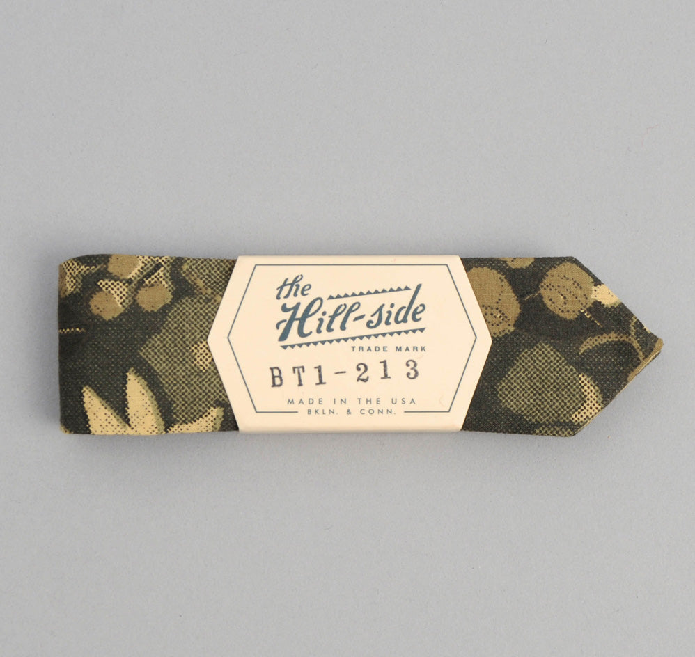 The Hill-Side - Xerox Floral Print Bow Tie, Camo - BT1-213 - image 1