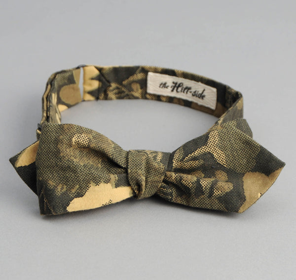 The Hill-Side - Xerox Floral Print Bow Tie, Camo - BT1-213 - image 2
