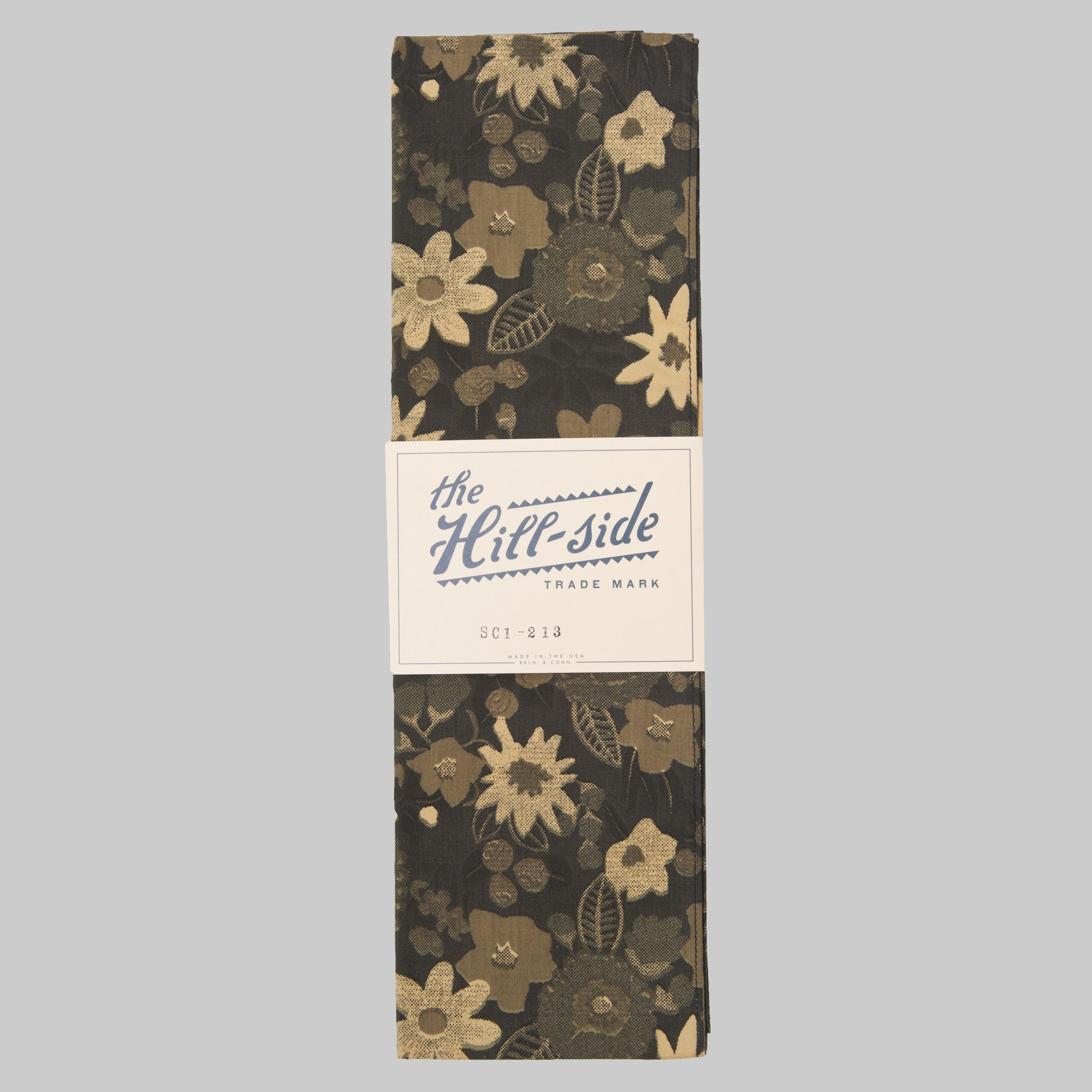 The Hill-Side - Xerox Floral Print Large Scarf, Camo - SC1-213 - image 1