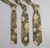 The Hill-Side Xerox Floral Print Square-End Tie,  Camo