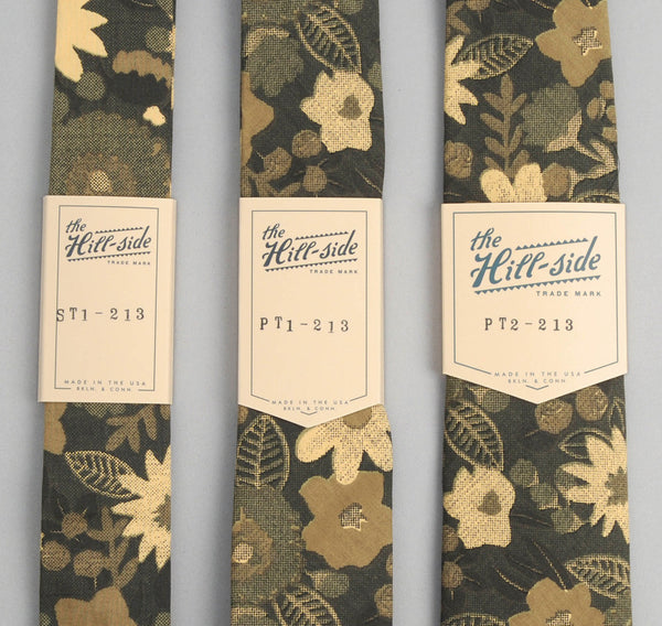 The Hill-Side - Xerox Floral Print Square-End Tie,  Camo - ST1-213
