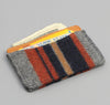 Wool Blend Blanket Stripe Card Case, Grey / Navy / Rust