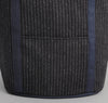 The Hill-Side Beach Cloth Stripe Heavy Duty Tote Bag,  Black / Navy