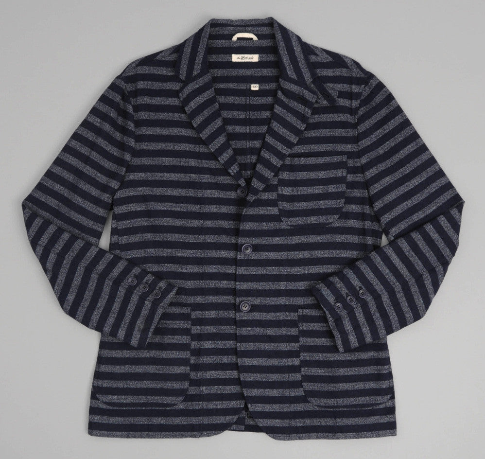 Selvedge Indigo Covert Stripe Tailored Jacket