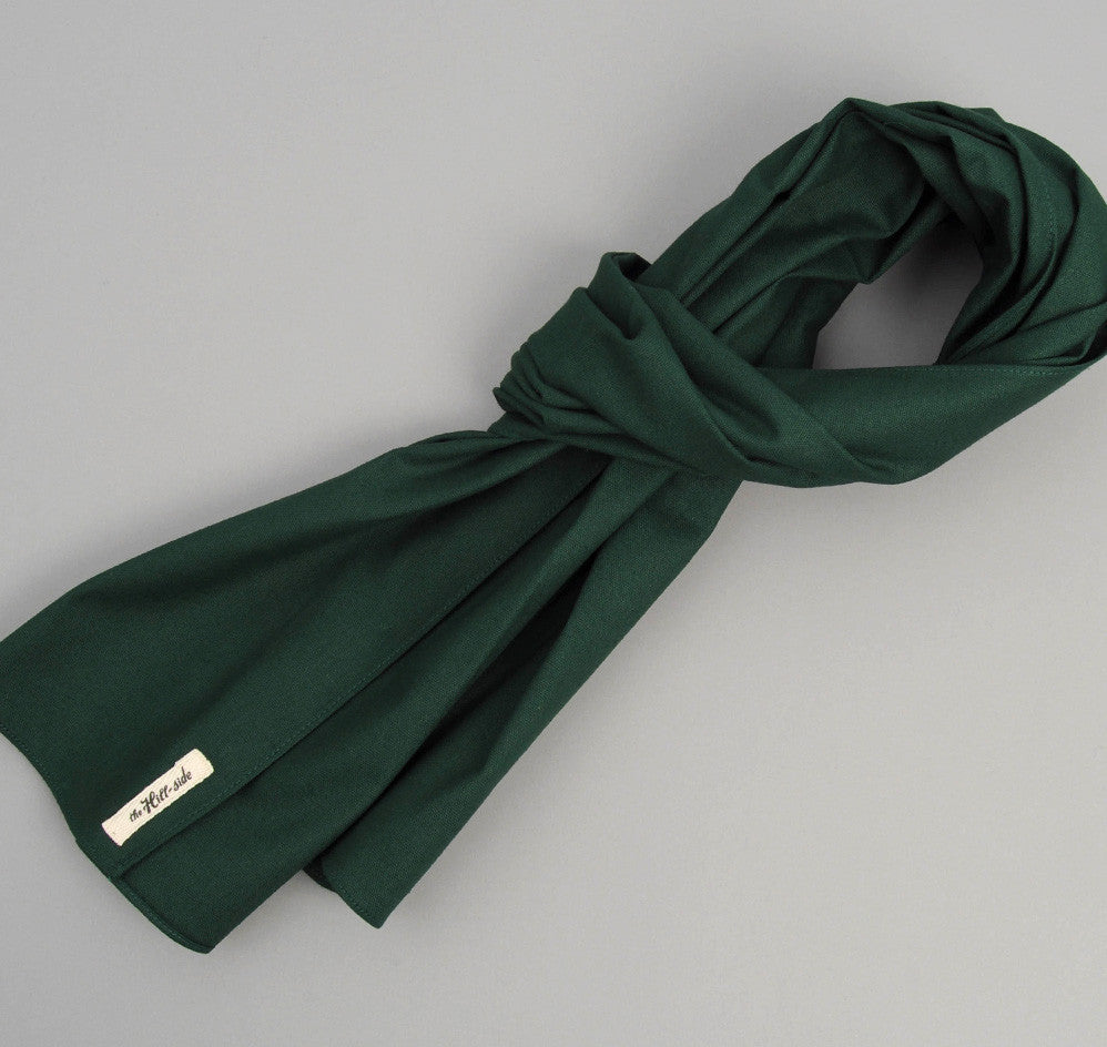 Overdyed Soft Oxford Large Scarf, Hunter Green
