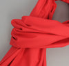 Overdyed Soft Oxford Large Scarf, Red