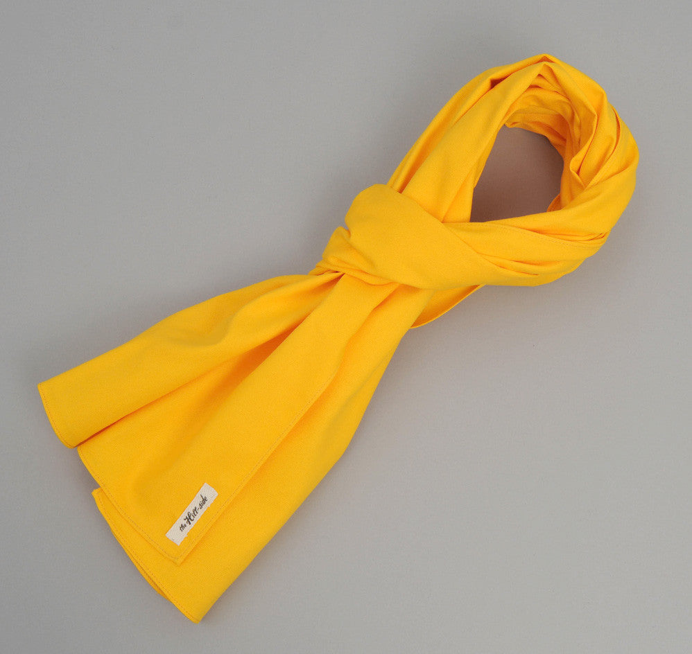 The Hill-Side Overdyed Soft Oxford Large Scarf, Yellow