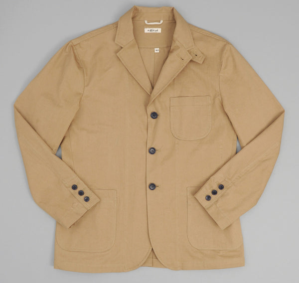 Fine Chino Twill Tailored Jacket, Khaki
