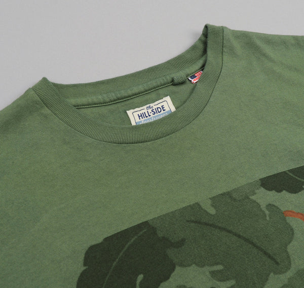 "The Hill-Side ""Mitchell Halftone"" Printed T-Shirt, Army Green"
