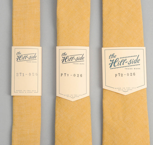 The Hill-Side Selvedge Chambray Necktie, Yellow
