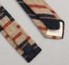 The Hill-Side 204 - Blanket Stripe Necktie, Tan/Navy/Rust