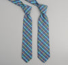 The Hill-Side 216 - Indigo Chambray Plaid Necktie, Blue / Green