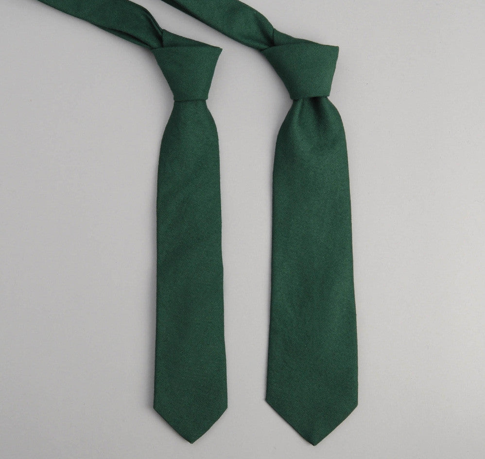 The Hill-Side - 228 - Overdyed Soft Oxford Necktie, Hunter Green - PT1-228