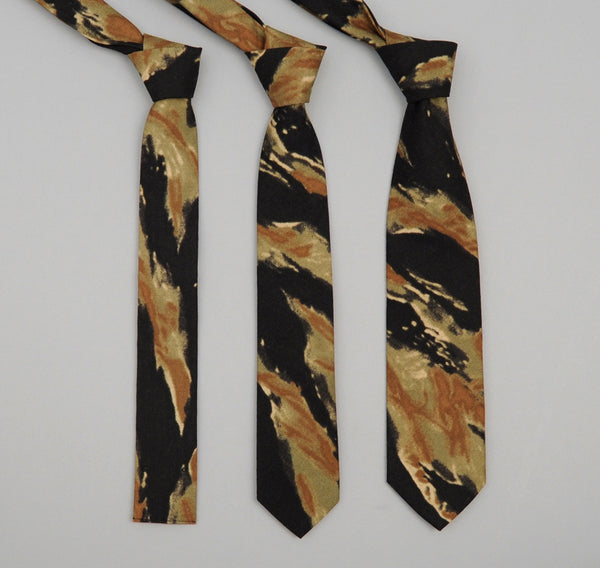 "The Hill-Side - 274 - Cotton Ripstop ""Bleeding"" Tiger Camo Necktie - ST1-274"