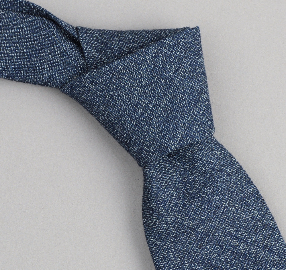 The Hill-Side - 287 - Covert Chambray Necktie, Dark Indigo - ST1-287