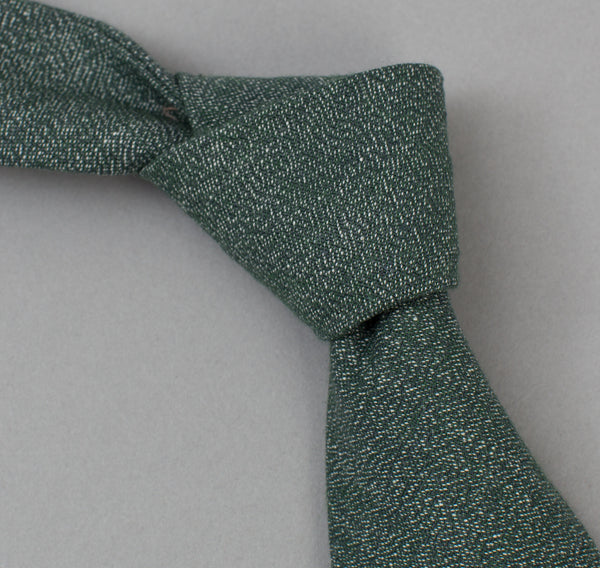 The Hill-Side 290 - Selvedge Covert Chambray Necktie, Green