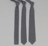 The Hill-Side 302 - Father & Son Stripe Twill Necktie, Indigo / White