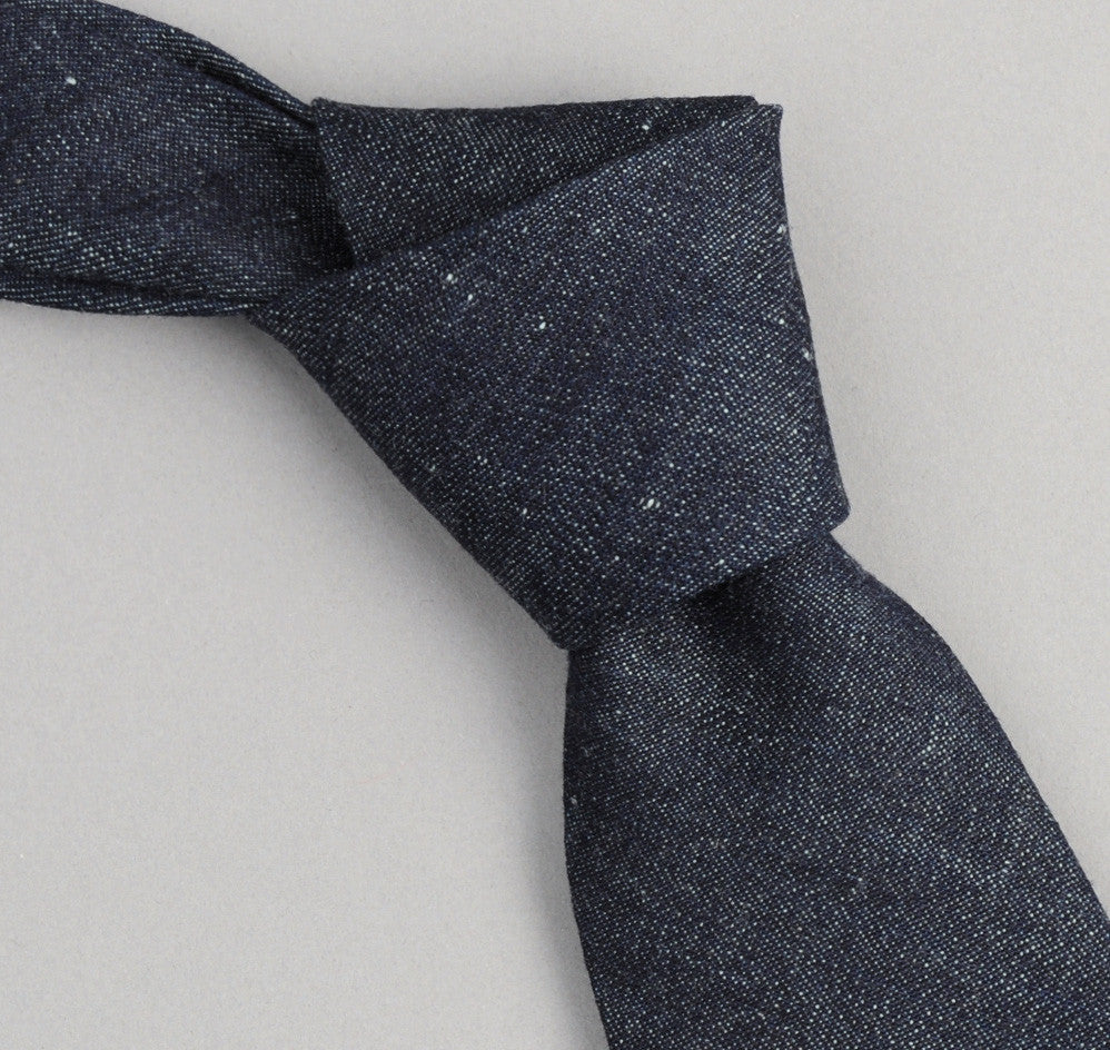 The Hill-Side - 310 - Selvedge Lightweight Weft-Slub Denim Necktie, Indigo - ST1-310