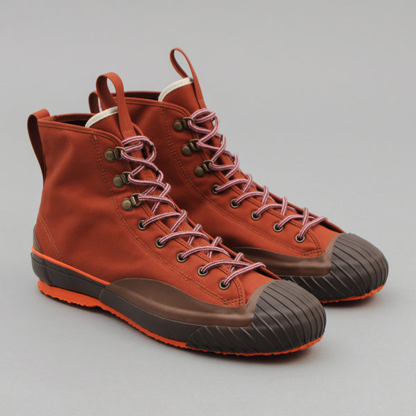The Hill-Side - All-Weather High Tops, Waterproof Ventile Twill, Martian Soil - SN6-393