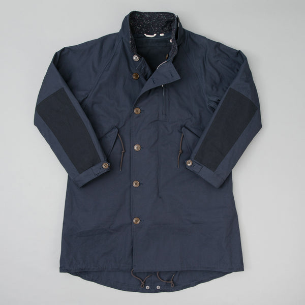 The Hill-Side All-Weather Mil Overcoat, Waterproof MizuTech Cotton, Navy