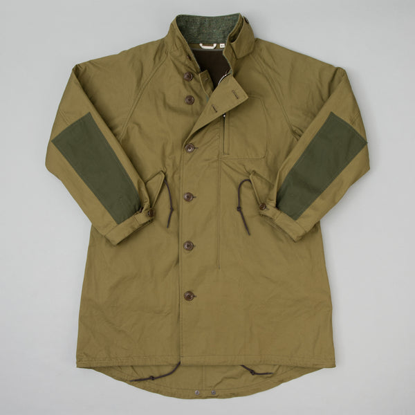The Hill-Side - All-Weather Mil Overcoat, Waterproof MizuTech Cotton, Olive - JK12-391