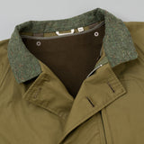 The Hill-Side All-Weather Mil Overcoat, Waterproof MizuTech Cotton, Olive