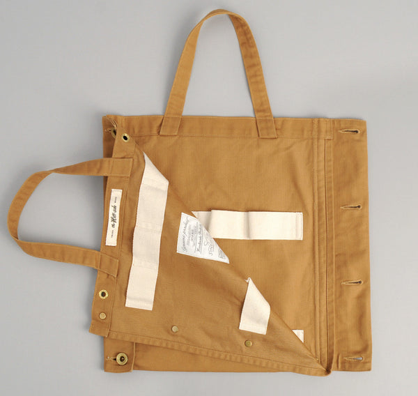 The Hill-Side 2-Way Tie Carrier Tote Bag, Brown Duck