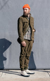The Hill-Side - Astro Cargo Shirt, Nylon Polar Fleece, Olive - SH6-401