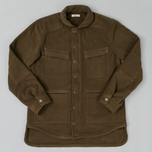 The Hill-Side Astro Cargo Shirt, Nylon Polar Fleece, Olive