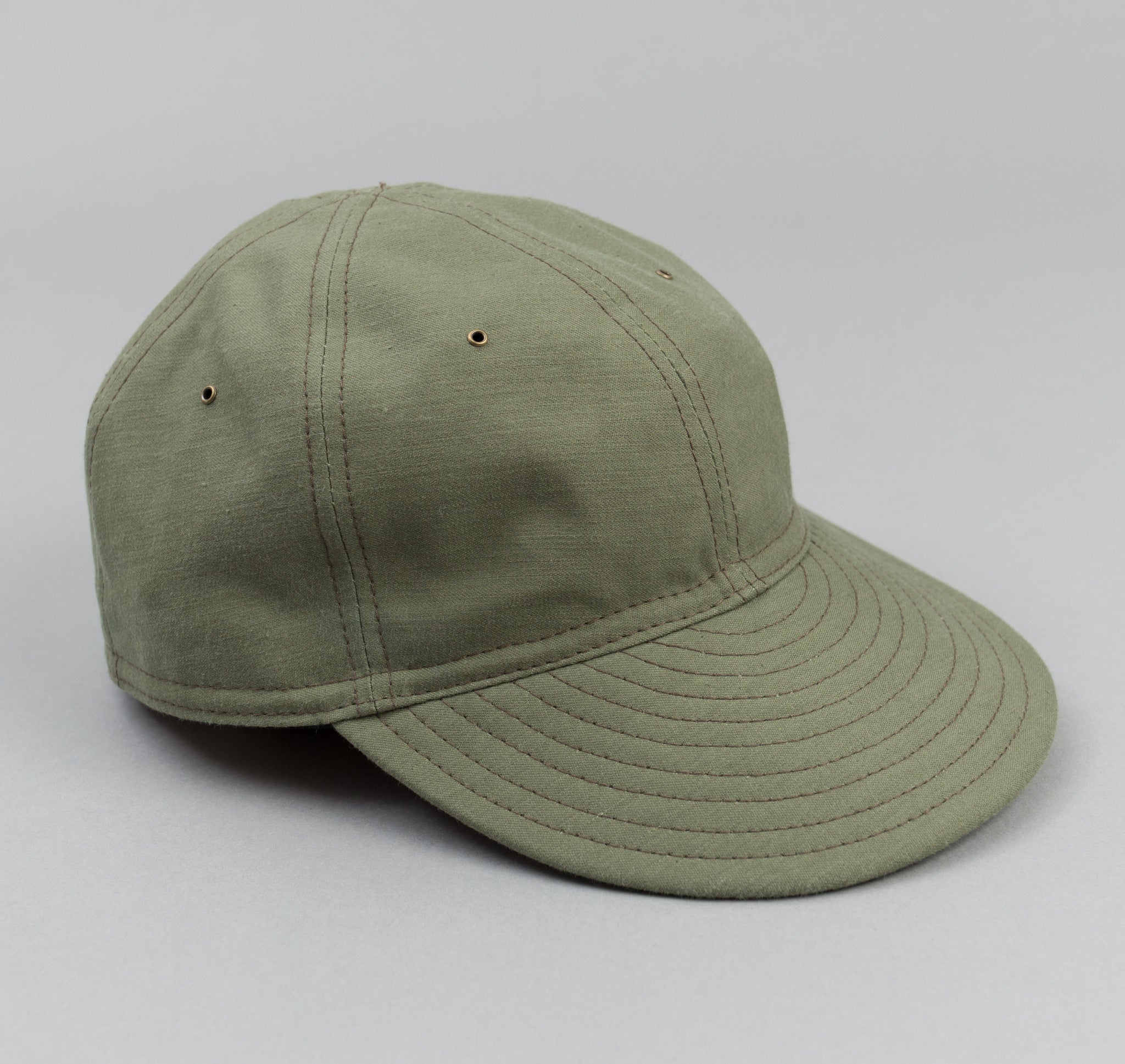 The Hill-Side Back Satin Chino Ball Cap, Olive Drab