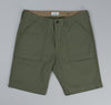 The Hill-Side - Back Satin Chino Fatigue Shorts, Olive Drab - SP1-341