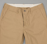 The Hill-Side - Back Satin Mil Chinos, Khaki - LP1-340