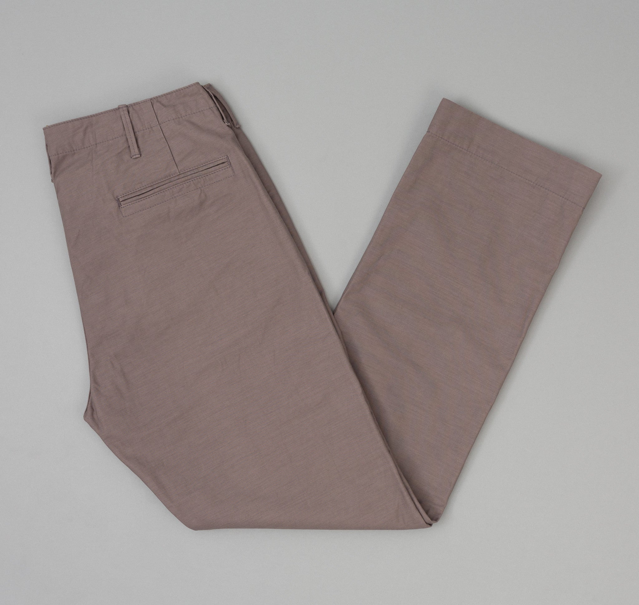 The Hill-Side - Back Satin Mil Chinos, Mallow Grey - LP1-342
