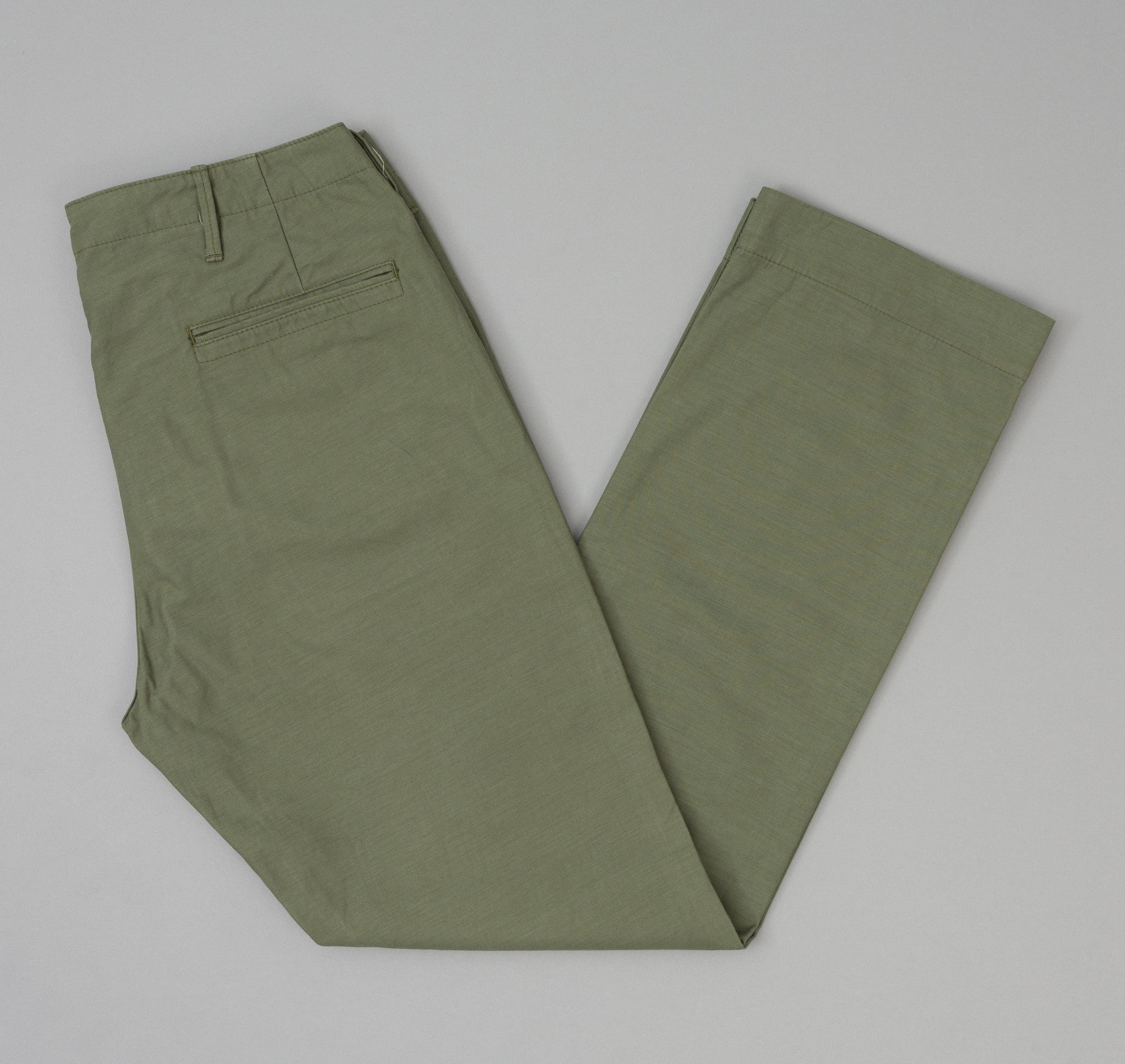 The Hill-Side Back Satin Mil Chinos, Olive Drab