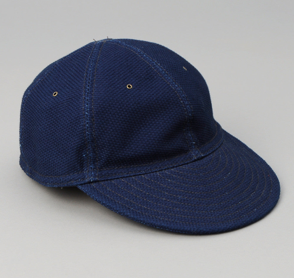 The Hill-Side - Ball Cap, Selvedge Lightweight Indigo Sashiko - CA1-244