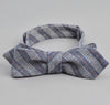 The Hill-Side - Basketweave Twill Stripe Bow Tie, Navy - BT1-264