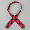 The Hill-Side - Bow Tie, Indigo/Red Flannel, Windowpane - BT1-379