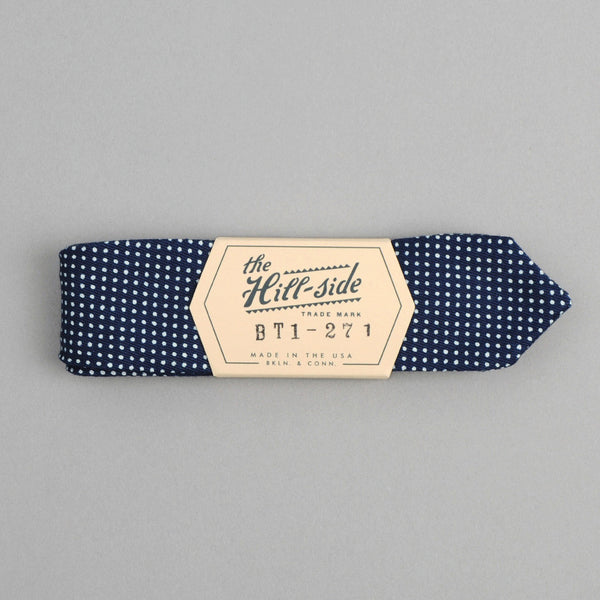 The Hill-Side - Bow Tie, Indigo Wabash Polka Dot - BT1-271
