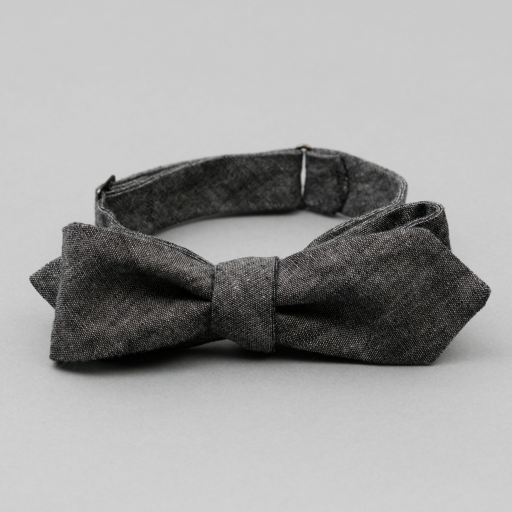 The Hill-Side - Bow Tie, Selvedge Chambray, Black - BT1-002