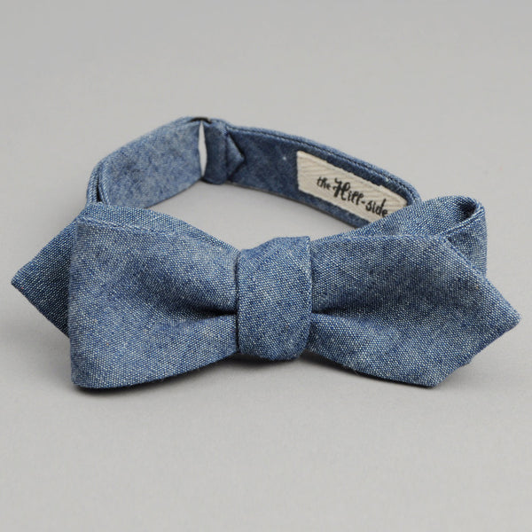 The Hill-Side Indigo Chambray Bow Tie