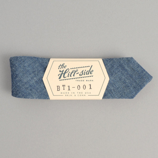 The Hill-Side - Bow Tie, Selvedge Chambray, Indigo - BT1-001
