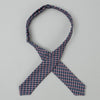 The Hill-Side TH-S Mills Navy Warp Bow Tie, Grid Check