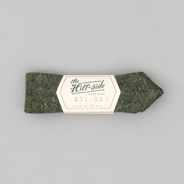 "The Hill-Side - Bow Tie, Wool Blend ""Galaxy"" Tweed, Olive - BT1-387"