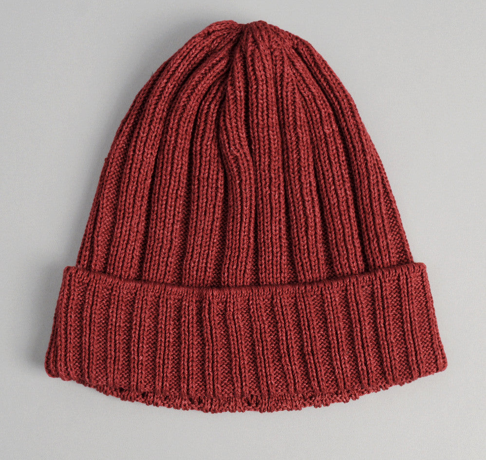 The Hill-Side - Brick Red Pima Cotton Knit Cap - KC1-02