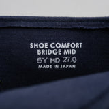 The Hill-Side - Bridge Mid, Heavyweight Indigo Sashiko - SN8-408